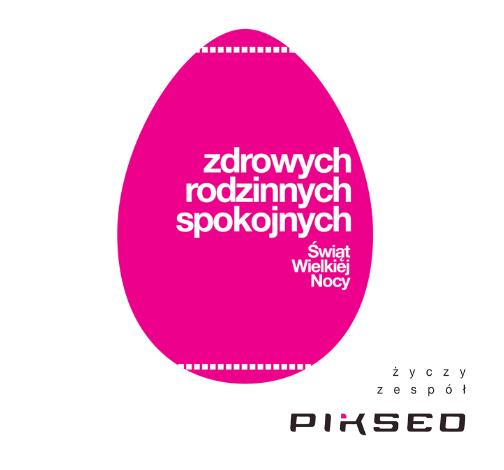 Zdrowych, rodzinnych i spokojnych Świąt Wielkiej Nocy,  życzy zespół Pikseo.pl